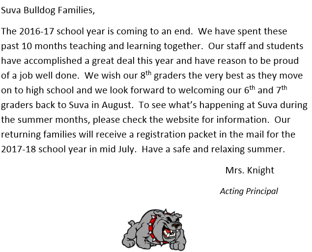 end of year principal message
