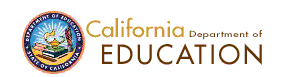 California Department of Education Logo  CED
